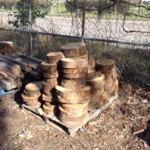 Cypress Logs Rounds, 2 in. Thick