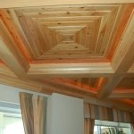 28 New Growth Pecky Coffered Ceiling