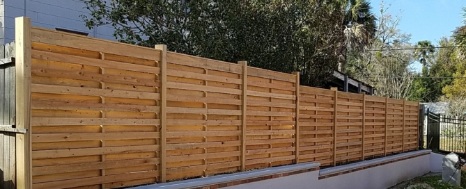 31 Common Cypress, Horizontal Fence