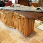35 Old Growth Pecky Kitchen Island Alternate View