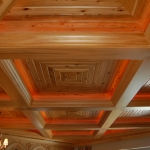 27 New Growth Pecky Coffered Ceiling