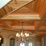 29 New Growth Pecky Coffered Ceiling