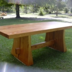 Heart Cypress Trestle Table