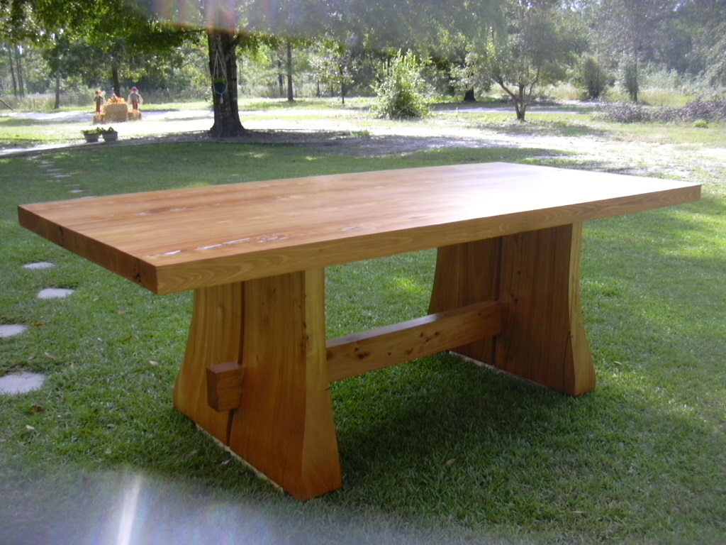 Solid Reclaimed Cypress Wood Table - kyoutbackwoodworking.com |Artsy Tables Cypress