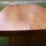 Heart Cypress Trestle Table, Top View