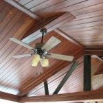 23 Common Cypress, Boathouse Ceiling, Tongue & Groove V-Joint, Stained