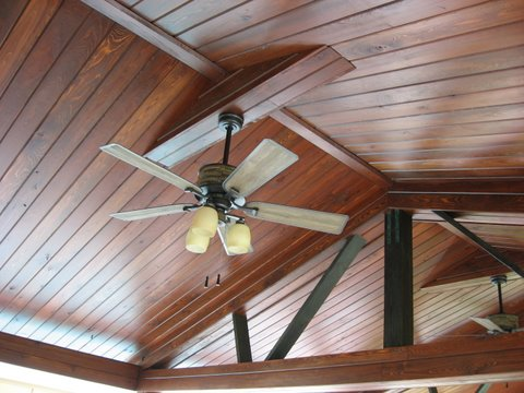 23 Common Cypress Boathouse Ceiling Tongue Groove V Joint Stained