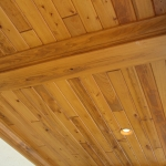 4 Common Cypress, Outdoor Ceiling, Stained