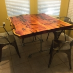26 Old Growth Heart Cypress / Old Growth Pecky Cypress Table