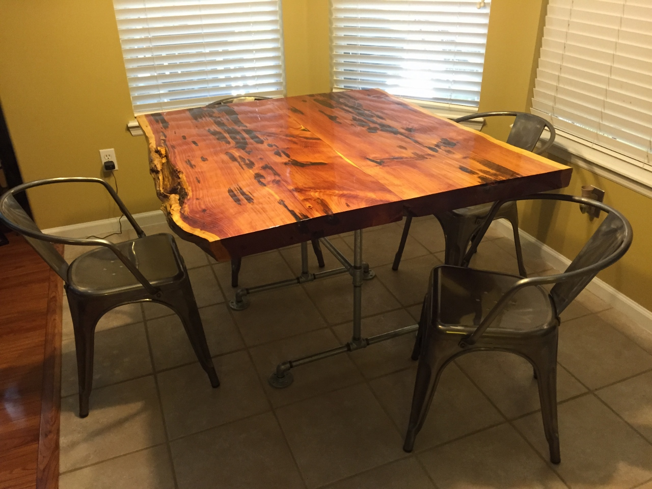 Captivating 26 Old Growth Heart Cypress / Old Growth Pecky Cypress Table