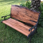 27 Old Growth Heart Cypress Bench