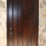 23 Select Cypress Single Door, Stained