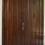 24 Select Cypress Double Door, Stained