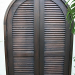 13 Select Cypress Shutter Double Doors, Stained