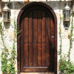 19 Select Cypress Entry Door, Stained