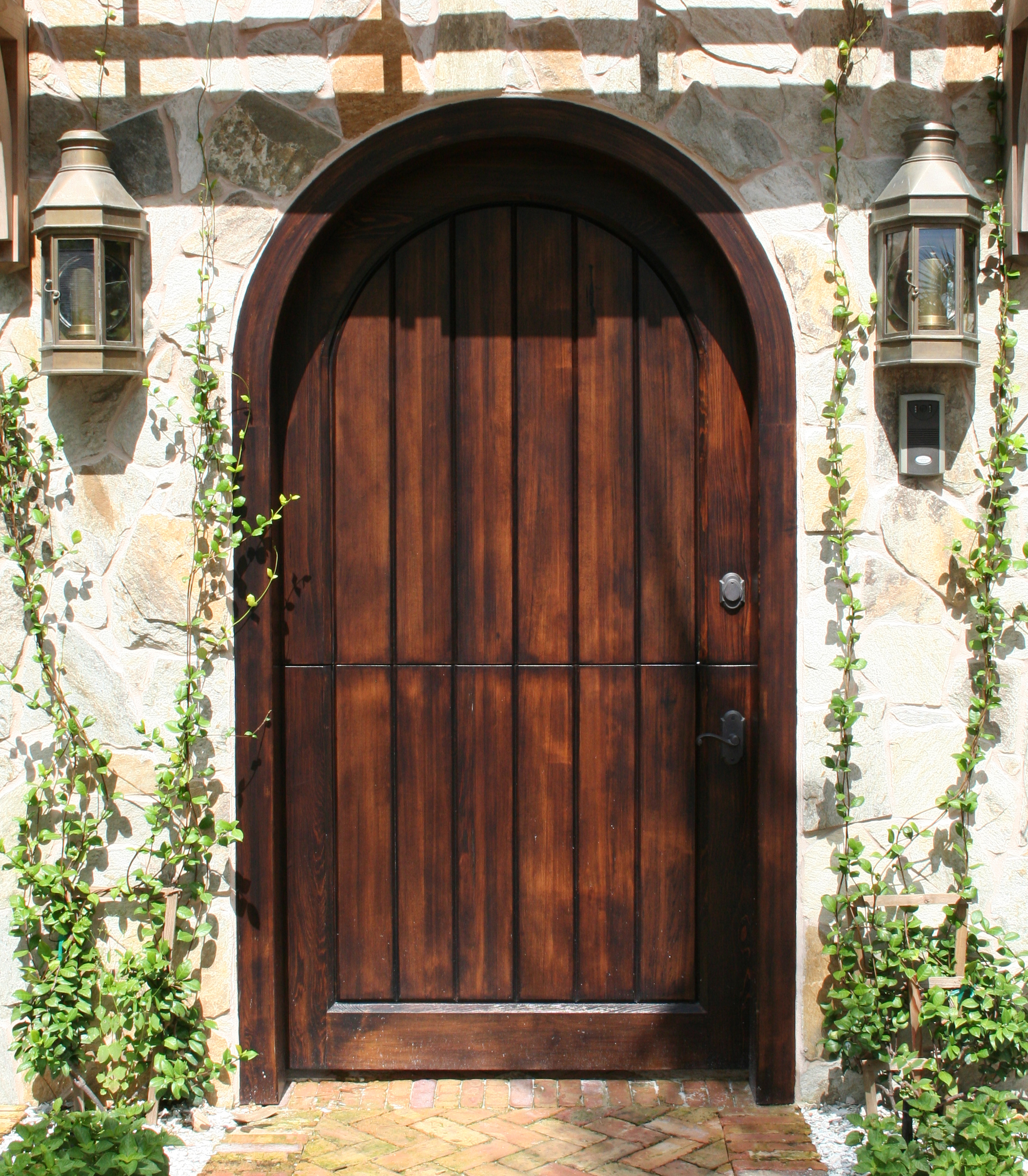 11 Select Cypress Entry Door, Stained