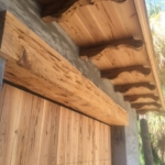 77 Old Growth Pecky Cypress Corbels, Garage Door, and Trim