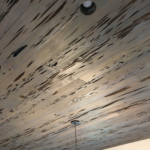 84 Old Growth Pecky Ceiling, Stained