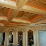 30 New Growth Pecky Coffered Ceiling