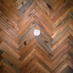 56 Mixed Old Growth/New Growth Pecky Herringbone Ceiling Alternate View