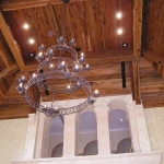 19 Old Growth Pecky Ceiling & Chandelier