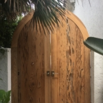 Old-Growth-Pecky-Garden-Gates-Install