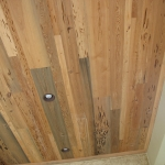 49 Mixed New and Old Growth Pecky Patio Ceiling, Random Widths and Lengths