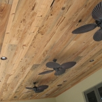 48 Mixed New and Old Growth Pecky Patio Ceiling, Random Widths and Lengths