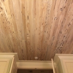 74 Old Growth Pecky Ceiling, Whitewash Stain