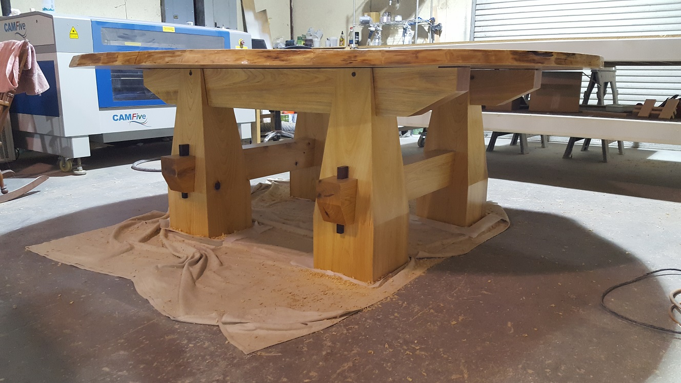 Florida Cypress Wood Products Inc Cypress Table Live Edge 2