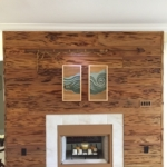 Old Growth Pecky Fireplace